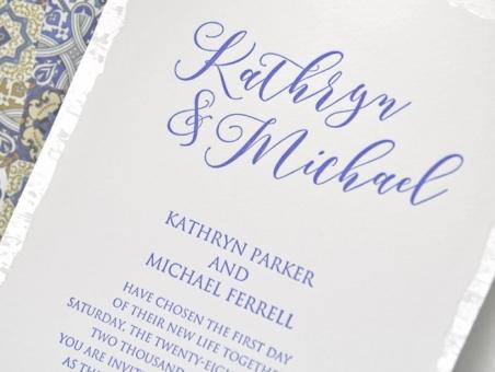 Invitación de boda clasica 39317  mosaico, barata