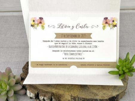 Invitación de boda divertida original barata 39322