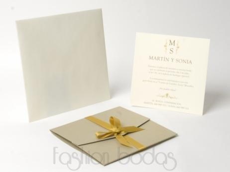 Invitación de boda -  CARTA DORADA   (KA35)