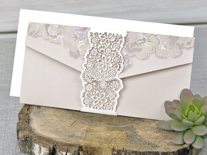 Invitación de boda - CORTE LASER   C 33039