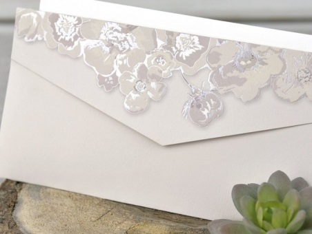 Invitación de boda - CORTE LASER CARD 39330   moderna, elegante, floral