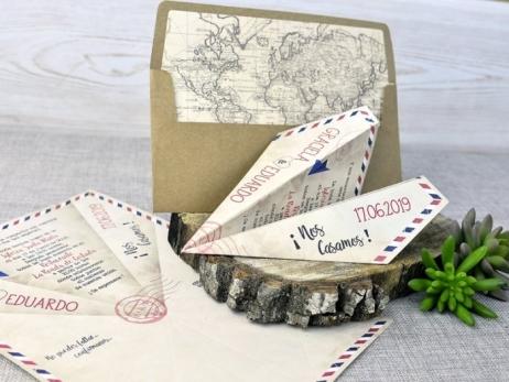 Invitación de boda - AVIONETA VIAJE   (C33339)
