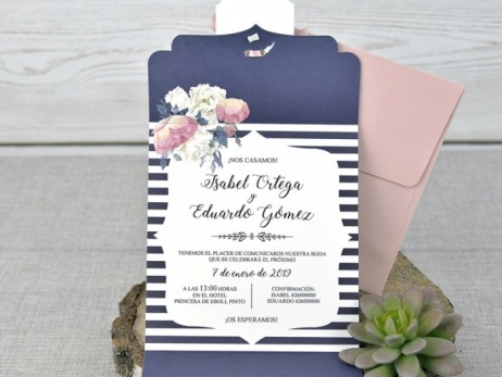 Invitación de boda - ROMANTICA  (C33639)