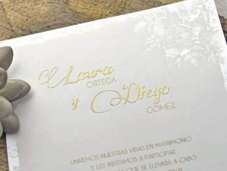 Invitación de boda - CAJA MARIPOSA   (C33839)