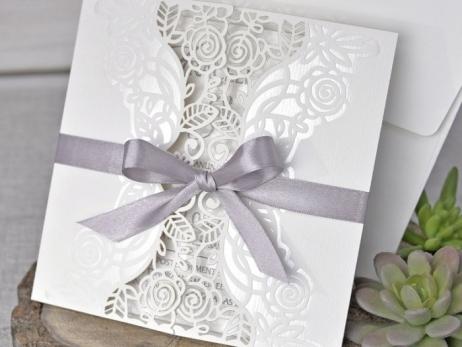 Invitación de boda - ELEGANTE CORTE LASER   (C34039)