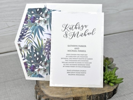 Invitación de boda - MODERNA  C 34339 sin forro en sobre