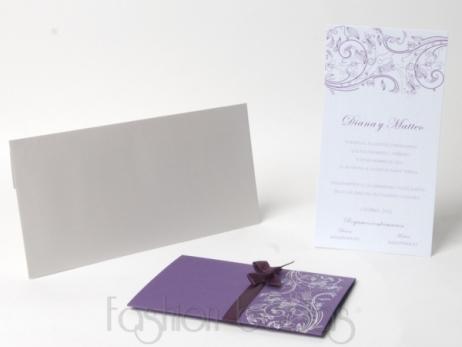 Invitación de boda -  ELEGANT LILA (KA38)