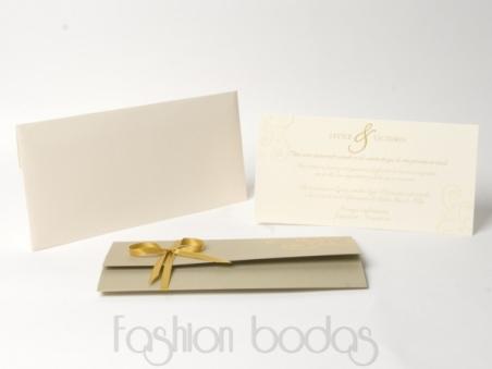 Invitación de boda -  ELEGANT DORADO