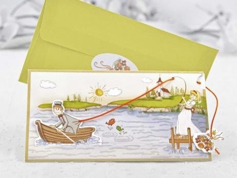 Invitación de boda - NOVIOS PESCANDO   (CARD 32405)