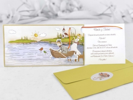 Invitación de boda barata informal 32405
