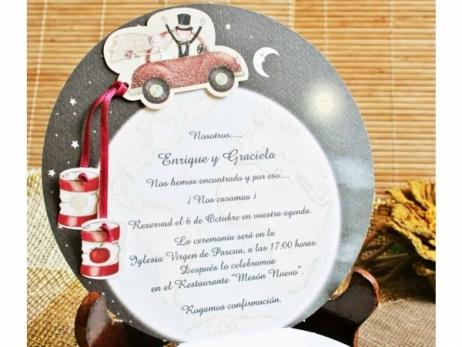 Invitación de boda - VUELTA AL MUNDO   (C40632)
