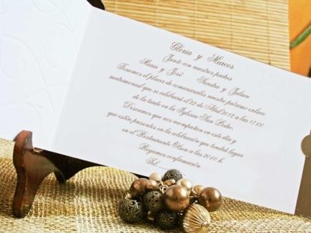 Invitaciónes de boda baratas elegantes 70741
