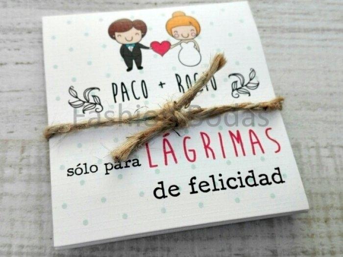 LÁGRIMAS DE FELICIDAD - MODELO NOVIOS CORAZÓN
