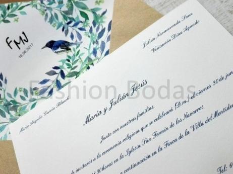 Invitación de boda - PAJARITOS