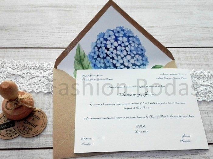 Invitación de boda - HORTENSIA