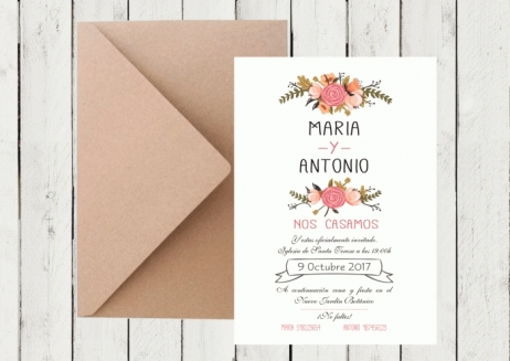 Invitación de boda - FLORAL CARD