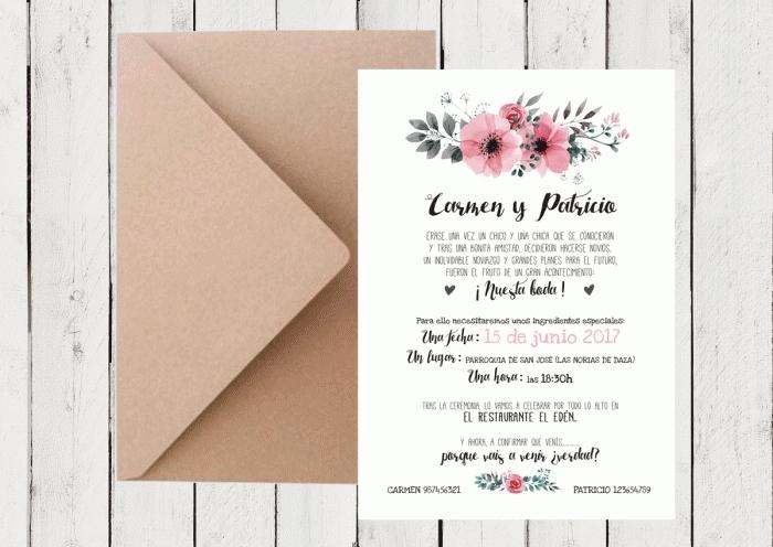 Invitación de boda - FLORES