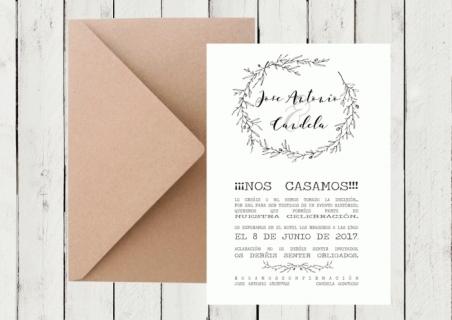 .Invitación de boda - BOTANICA