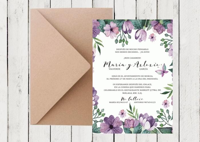 Invitación de boda - MARIPOSAS (2)