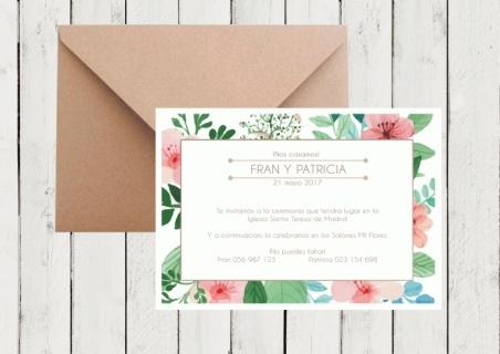 Invitaciones de boda florales  FLORAL SPRING