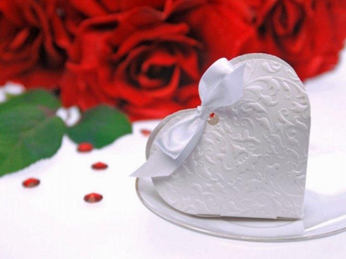 CAJITA  CORAZON para peladillas/detalles/bombones boda PUD10