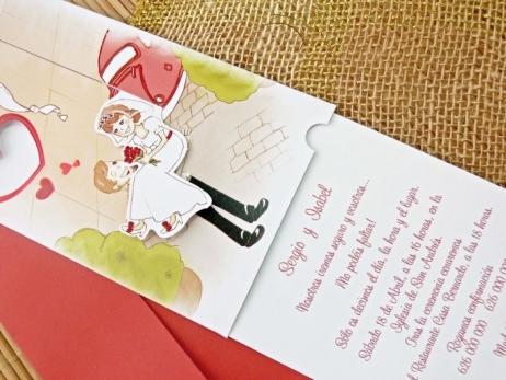 Invitación de boda - NOVIOS CON MOVIMIENTO  (C70832)