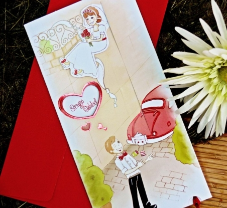 Invitación de boda informal 32708