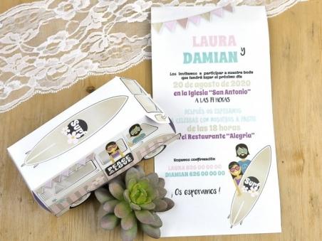 Invitación de boda - FURGONETA VINTAGE 39603