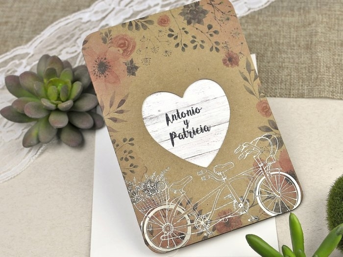 Invitación de boda - ROMÁNTICA FLORES   (C60639)