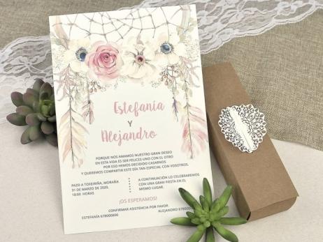 Invitación de boda - EN CAJA KRAFT   (C60839)