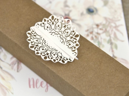 Invitación de boda EN CAJA KRAFT 39608