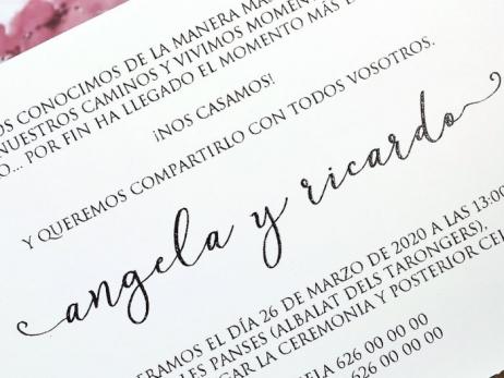 Invitación de boda - MARIPOSA Y FLORES ACUARELA   (C61139)
