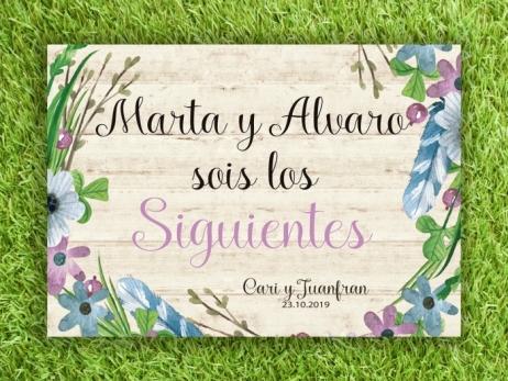 Cartel para boda - SOIS LOS SIGUIENTES