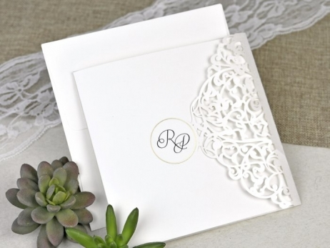 Invitación de boda - RAMAS CORTE LASER    (C61739)
