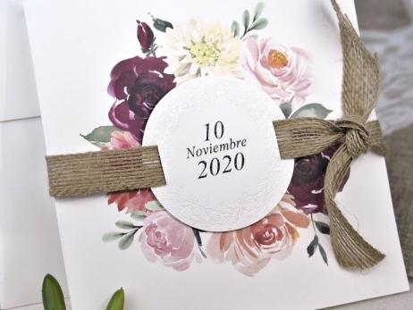 Invitación de boda - CAMPESTRE CON FLORES    (C62239)