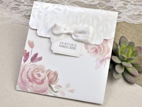 Invitación de boda - VINTAGE CON FLORES   (C62339)
