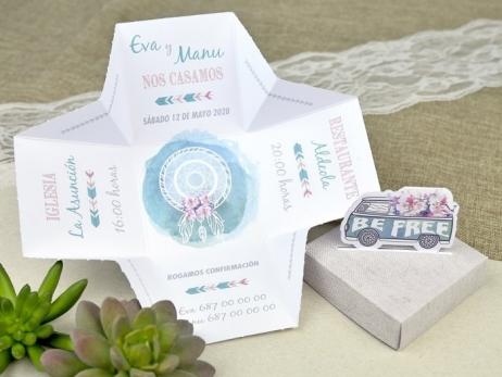 Invitación de boda - CAJA FURGONETA   (C62839)
