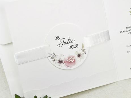 Invitación de boda - RUSTICA FLORAL   (C63239)