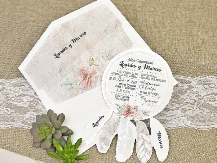 Invitación de boda - ATRAPASUEÑOS   (C63339)