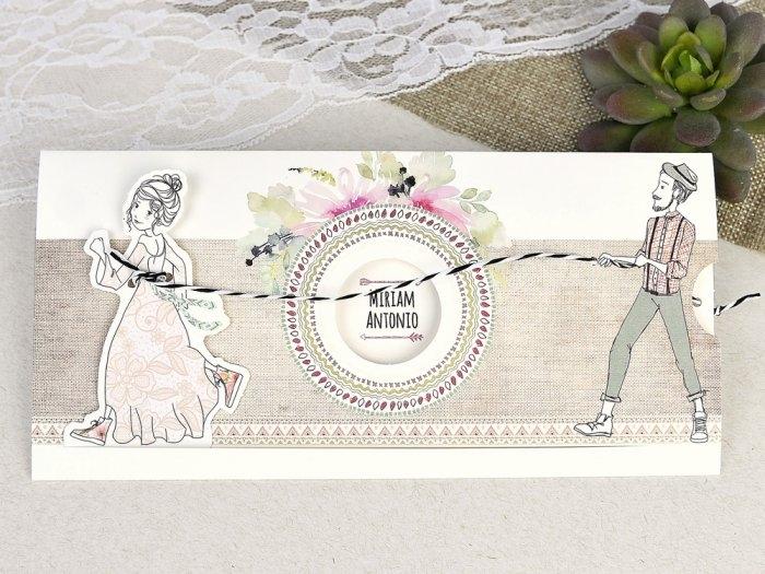 Invitación de boda - NOVIOS VINTAGE   (C63439)