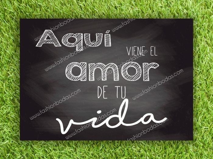 Cartel para boda - AMOR DE TU VIDA (colección Pizarra)