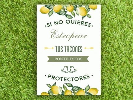 Cartel para boda zona CUBRETACONES (colección Limones)