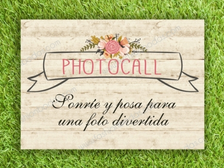 Cartel para boda - PARA PHOTOCALL (coleccion Floral Card)