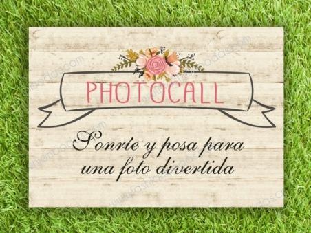 Cartel para boda PARA PHOTOCALL
