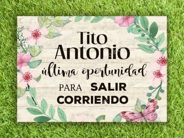 Cartel para boda - TITO ULTIMA OPORTUNIDAD