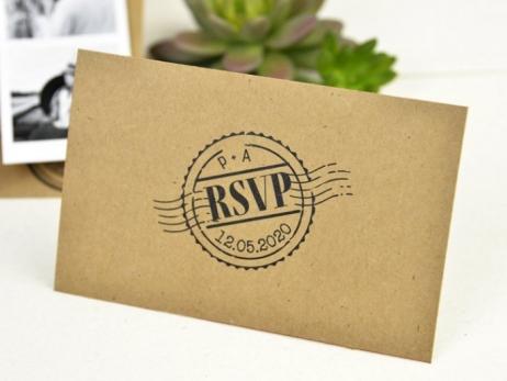 Invitación de boda - TIRA DE FOTOS KRAFT   (C53132)