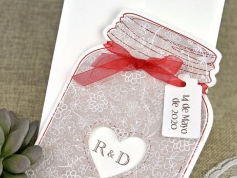 Invitación de boda - BOTE RECETA BODA   (C64139)
