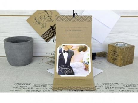 Invitación de boda - KRAFT CON FOTO    (C60832)