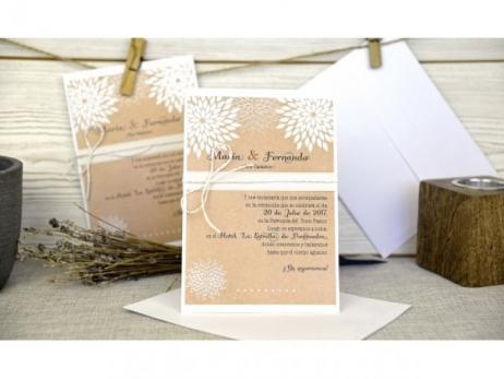 Invitación de boda - RUSTICA KRAFT    (C64332)