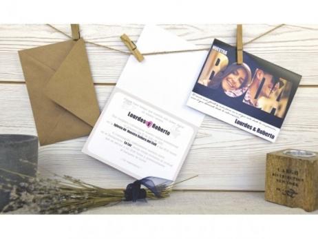 Invitación de boda - ORIGINAL CON FOTO   (C60732)